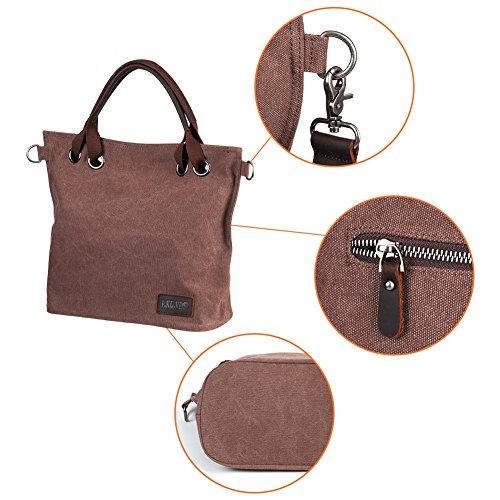 Women's Hobo bag, P.KU.VDSL Canvas Slouch bag large Totes Shoulder Handbag for Shopper Beach School N-coffee