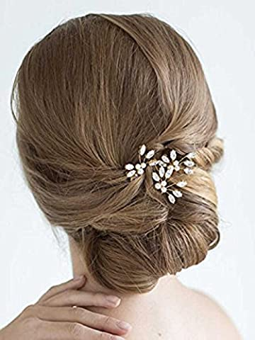 Venusvi Wedding Hair Pin Decorative for Bridal(Pack of three) (Hair Pin Gold)