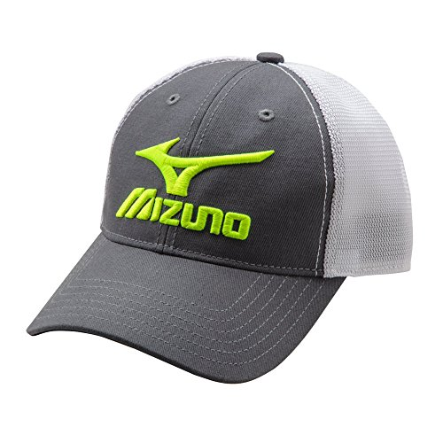 Mizuno Mesh Trucker Hat, Charcoal/Gold