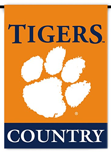 NCAA Clemson Tigers 2-Sided Country Garden Flag, One Size, Team Color