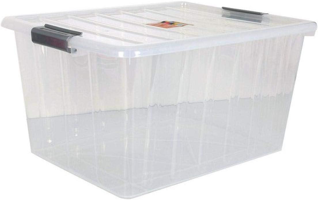 BigBuy Home Caja De Almacenaje con Tapa 50 L