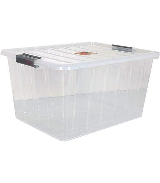 BigBuy Home Caja De Almacenaje con Tapa 50 L: Amazon.es: Hogar