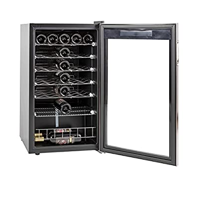 SMETA 3.4 cu ft 35 Bottles Wine Refrigerator with Stainless Steel Door Thermoelectric Wine Cellar Fridge Freestanding Champagne Cooler,110V,39.2?~64.4?