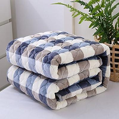 Doble espesor Franela gruesa manta cálida manta de algodón ...