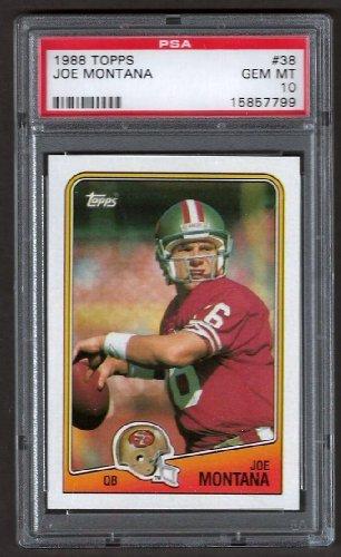 Topps 1988 38 Joe Montana PSA 10 49ers Super Bowl Year. ()
