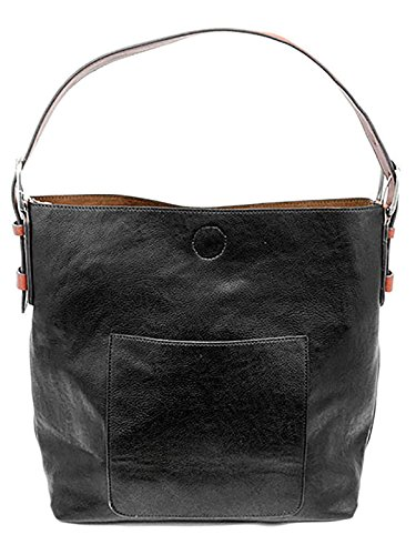 Large Hobo Black Handbags - Joy Susan Hobo Cedar Handle Handbag - Black, Black, One-Size