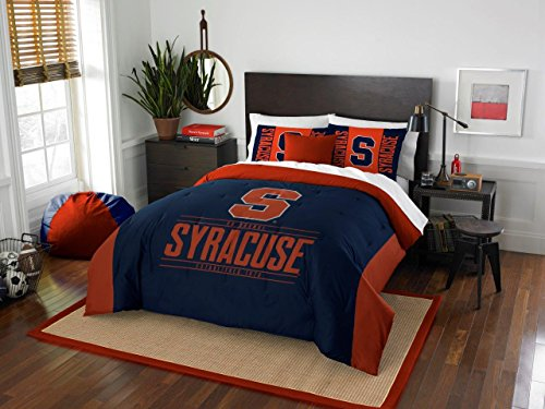(Syracuse Orange - 3 Piece FULL / QUEEN SIZE Printed Comforter & Shams - Entire Set Includes: 1 Full / Queen Comforter (86