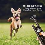Dog Training Collar - Rechargeable Dog Shock Collar w/3 Training Modes, Beep, Vibration and Shock, 100% Waterproof Training Collar, Up to 1000Ft Remote Range, 0~99 Shock Levels Dog Training Set 13