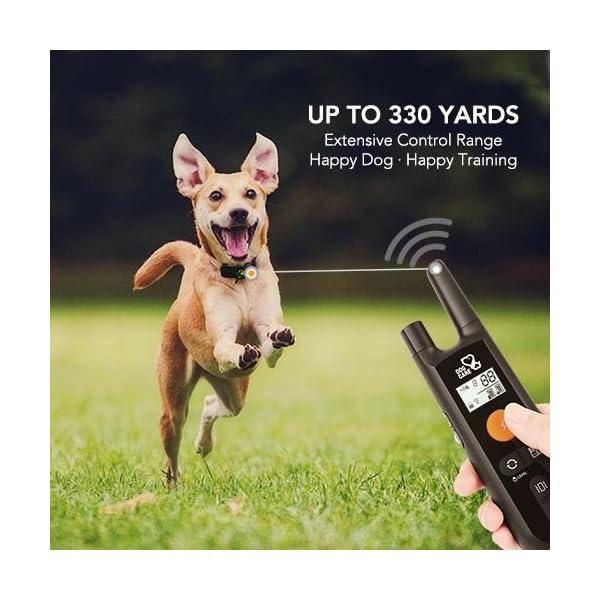 Dog Training Collar - Rechargeable Dog Shock Collar w/3 Training Modes, Beep, Vibration and Shock, 100% Waterproof Training Collar, Up to 1000Ft Remote Range, 0~99 Shock Levels Dog Training Set 6