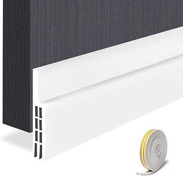 Separation Door Bottom Sealing Strips Sound-Proof Door and Window Gap Rubber Strips Wind-Proof Stickers Isolation Color : Brown, Size : 93x10cm