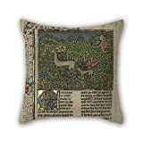 MaSoyy oil painting Gaston Phébus (French - Book of the Hunt pillow shams 18 x 18 inches / 45 by 45 cm for boys,home office,boy friend,pub,christmas,bar with each side