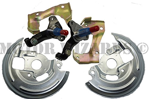 Front Disc Brake Kit Spindles+Caliper Brackets+Dust Shields 64-72 GM A,F,X