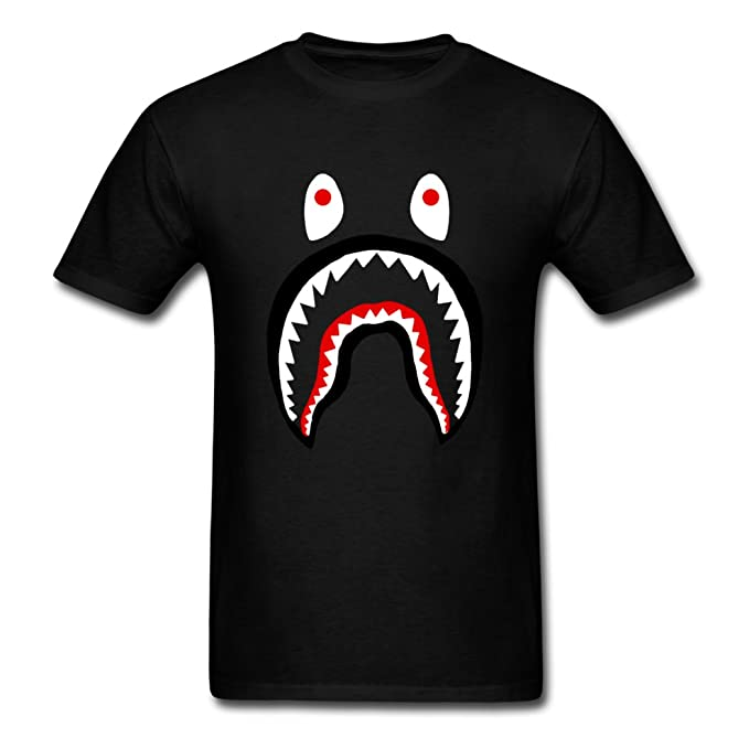 Bape Shark Hombre Cómodo DD. Cat Camiseta Negro: Amazon.es: Ropa y accesorios