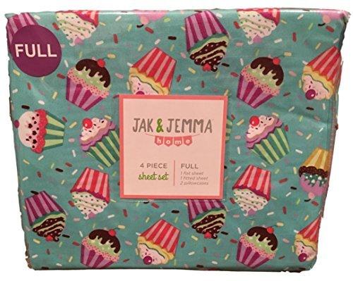Jak & Jemma Home 4-Piece Sheet Set Cupcake (Full) (Cupcake, 4 Piece Full Set)