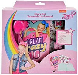 JoJo Siwa Sandy Lion Diary W/Lock, Pen, Stamper, 2 Sticker Sheets