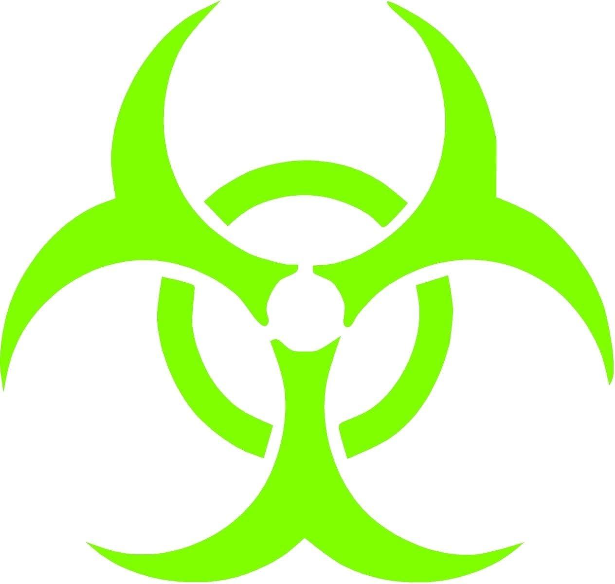 """ProSticker 1277.12 (One) 12"""" Zombie Series Green Bio Hazard Decal Sticker"""