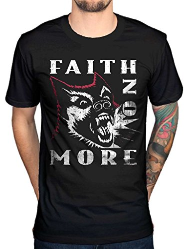 AWDIP Men's Official Faith No More Dog Vintage T-Shirt Rock Band Indie Album Alternative