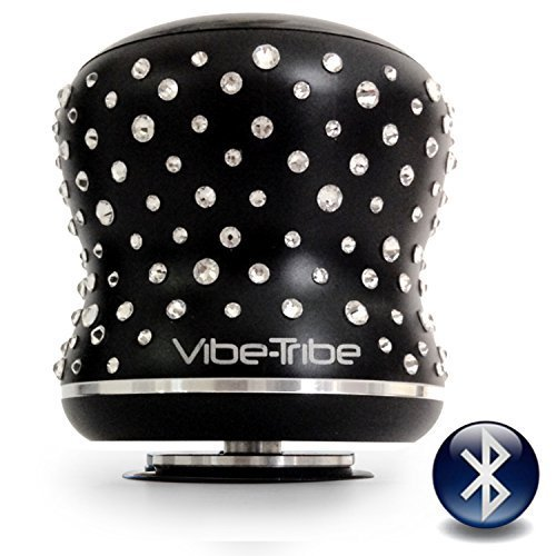 Vibe-Tribe Mamba Limited Edition - Crystals from Swarovski®: 18 Watt Bluetooth Vibration Speaker, Touch Panel, Hands Free, Daisy Chain