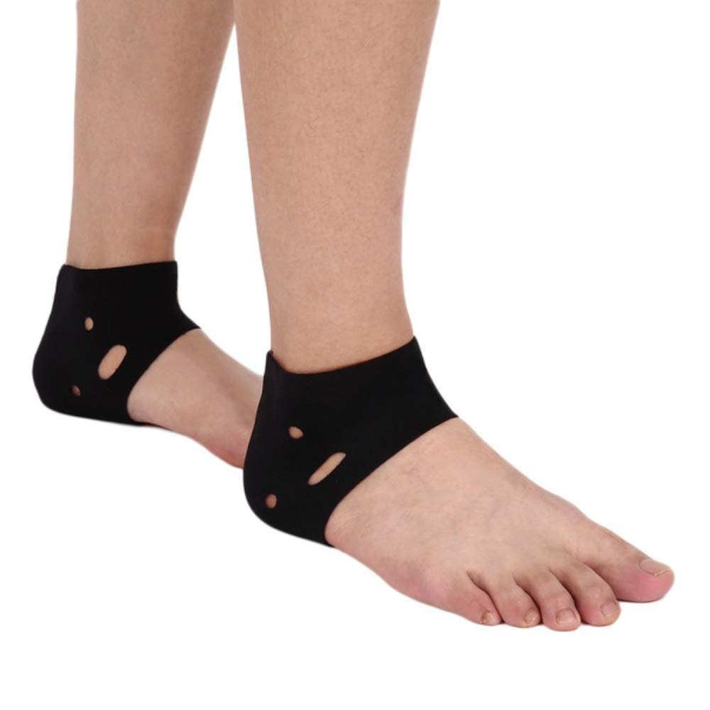 NiuChong 1 Pair Breathable Hole Elastic Brace Yoga Black Ankle Support Love it