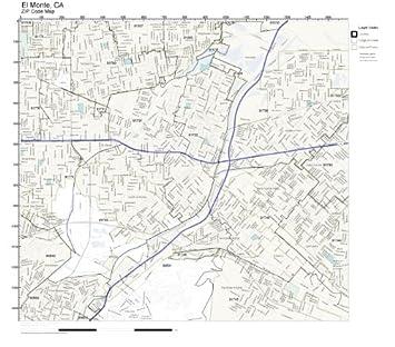 Amazon Com Zip Code Wall Map Of El Monte Ca Zip Code Map Not