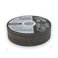 "25 Pack Black Hawk 4-1/2"" x .040 x 7/8"" Arbor Metal & Stainless Steel Cut Off Wheels - Ultra Thin Discs"