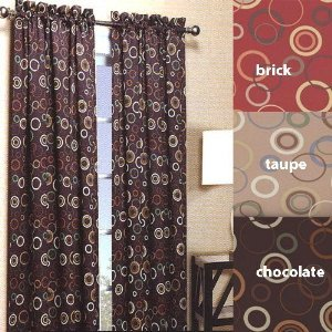 Solar Modern Print Blackout Curtain Panels   54u0026quot; ...