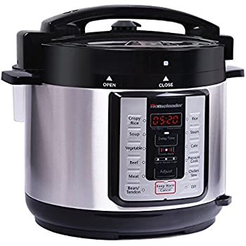 Homeleader 12-in-1 Multi-Use Programmable Pressure Cooker, Digital Electric Pressure Cooker, 5Qt Stainless Steel