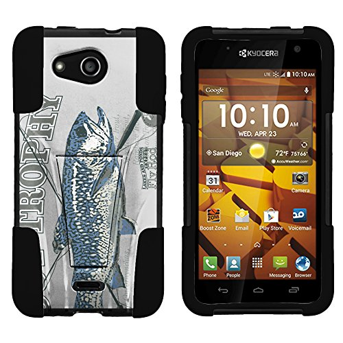 Impact Trophy (Kyocera Hydro Wave C6740 Phone Case, Silicome and PC Combo STRIKE Impact Kickstand Case with Dazzling Designs for Kyocera Hydro Wave C6740 (T Mobile) from MINITURTLE - Trout)