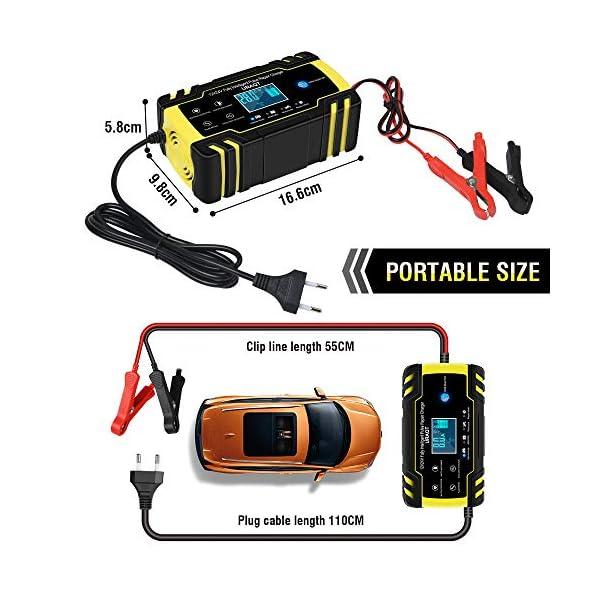 51ZrMlpKphL URAQT Autobatterie Ladegerät, Erhaltungsladegerät 8A 12V/24V, Aktualisierung Batterieladegerät Batterie Ladegerät für…