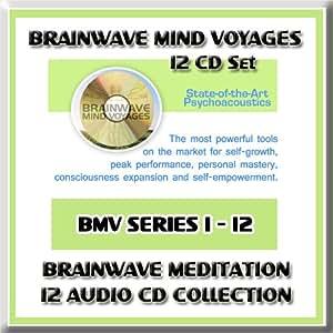 Brainwave Mind Voyages 12 CD Set: Brainwave Meditation Programs, Hemispheric Synchronization, and Brainwave Entrainment Technology (12 BMV CDs: Lucid Dreaming, Astral Trance, Alpha Brainwaves, Theta Brainwaves, Delta Brainwaves, Tones, Astral Vibrations, Remote Viewing, Beta Brainwaves, Lucid Dream Cycle, Lucid Dreams Hypnosis, Guided Dream Incubation)