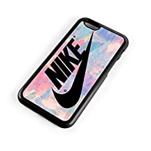 Nike Logo Pink Pastel Turquois 3D Print Custom Case for Iphone 4/4s 5 5s 5c 6 6plus (iPhone 5/5s White)