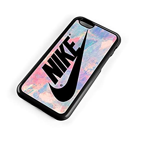 Nike Logo Pink Pastel Turquois 3D Print Custom Case for Iphone 4/4s 5 5s 5c 6 6plus (iPhone 5/5s - Iphone 5 Phone Case