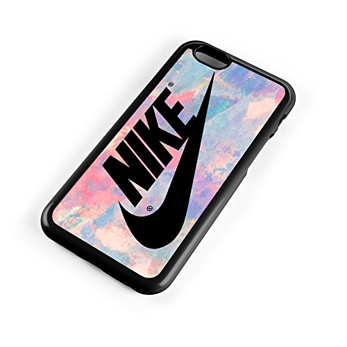 Price comparison product image Nike Logo Pink Pastel Turquois 3D Print Custom Case for Iphone 4/4s 5 5s 5c 6 6plus (iPhone 5/5s Black)