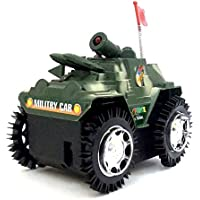west feen Tank Toy Car Battery Operated with Fllashing Light Toy (Army Green)