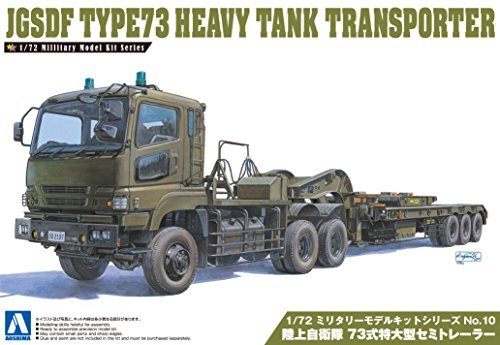Aoshima Models JGSDF Type 73 Heavy Tank Transporter Model Kit (1/72 Scale) - Tank Transporter