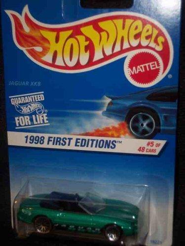 Hot Wheels - 1998 First Editions - #5 of 40 - Jaguar XK8 (Open-Top Convertible) - Collector #639 - 1:64 Scale Collector Car Replica.