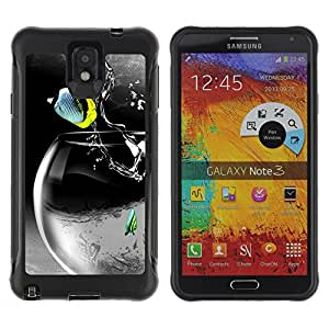 Hybrid Anti-Shock Defend Case for Samsung Galaxy Note 3 / Cool Rocket Fish
