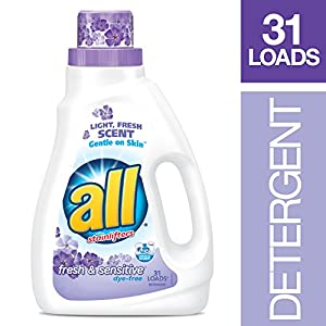 all Liquid Laundry Detergent, Fresh & Sensitive, 46.5 Fluid Ounces, 31 Loads
