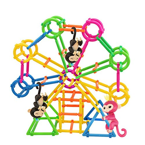 Baby Monkey Toy Stent  Fanxing Diy Building Playset Interactive Baby Monkey Climbing Stand For Monkey Mia  80Pc