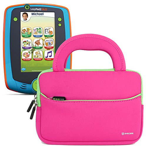 Z300 Component (Evecase LeapFrog LeapPad Glo / LeapPad 3 Kids Learning Tablet Ultra Portable Travel Carrying Neoprene Sleeve Case Bag with Handle & Accessory Pocket - Hot Pink)