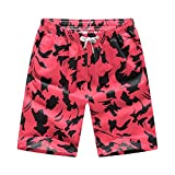 Ronlin Mens Beachwear Quick Dry Colorful Print High Tide Cool Summer Shorts Swimming Trunk, Medium