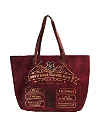 Official Harry Potter Hogwarts Back to School List Large Tote Shopping Bag