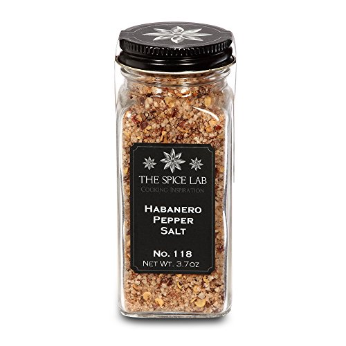 The Spice Lab Habanero Spicy Hot Pepper Sea Salt - Premium Gourmet Natural Ingredients and - French Jar - Hot Pepper Butter