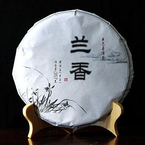China Tea Yunnan Pu'er tea Chang Yun Pu'er tea cake seven orchid born EXOBASIDIUM 357g Puer health cake package mail -