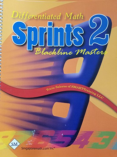 Differentiated Math, Sprints 2, Blackline Masters, 9781932906424, 1932906428