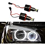 Autolizer 2x H8 40W 360-Degree CREE LED Halo Bulbs 6000K Super Bright Xenon White BMW Headlights Super Bright White Angel Eyes Lamps for BMW E60 E61 E90 E92 E70 E71 E82 E89 1 3 5 Series X5 X6 Z4 (Black Color Edition) by Autolizer