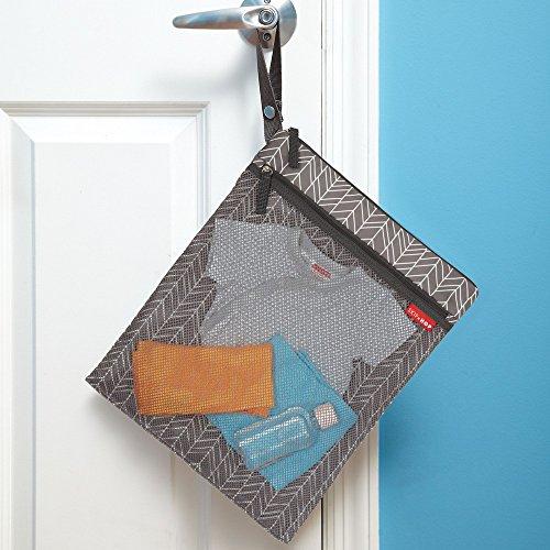 Skip Hop Waterproof Wet Dry Bag, Grab & Go, Grey Feather by Skip Hop (Image #2)