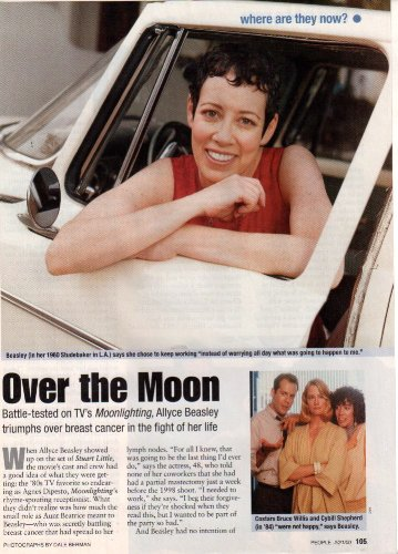 Allyce Beasley Starting Clipping Magazine Photo 1page 8x10 #Z3428