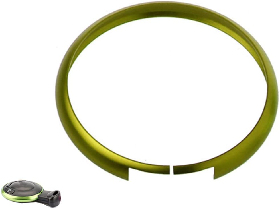WKBY Vert Bordure d/écorative en alliage daluminium pour cl/é de Mini Cooper E60 E39 E36 E30 X5 R56