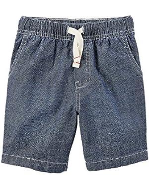 Carter's Baby Boys' Pull On Denim Shorts